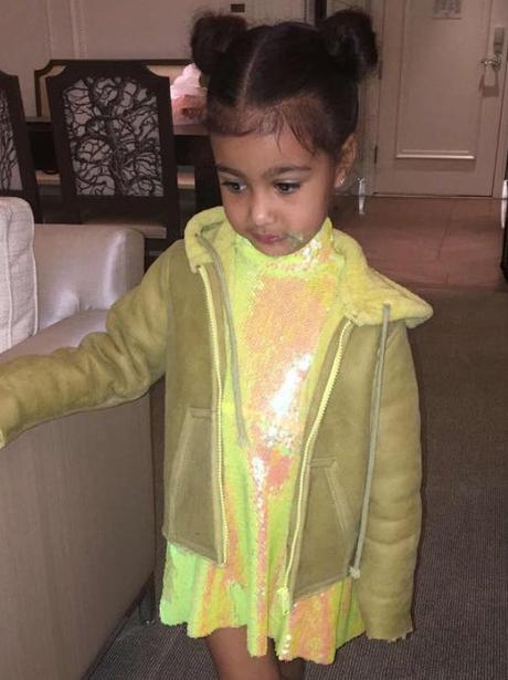 Kim Kardashian and Kanye West promote kids wear li