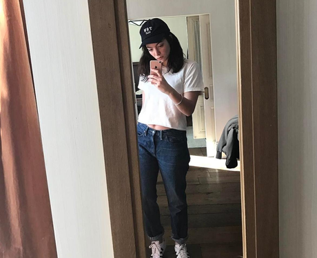 Lorde opts for casual threads in jeans and a white