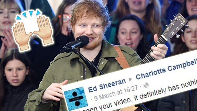 """""""I'll Get It Sorted"""" - Ed Sheeran Takes On Facebook After They Delete One Of His Fans Cover Videos"""